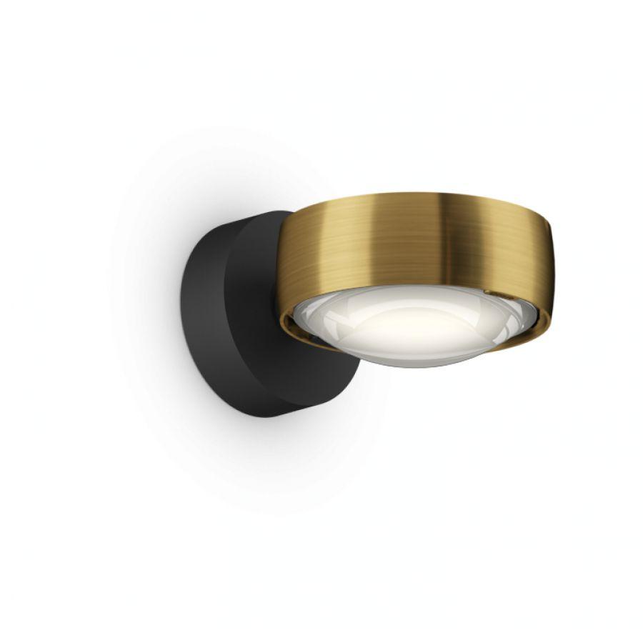 Sento verticale up C gold matt, body schwarz matt, mit Fixierring, LED 3000K CRI 97