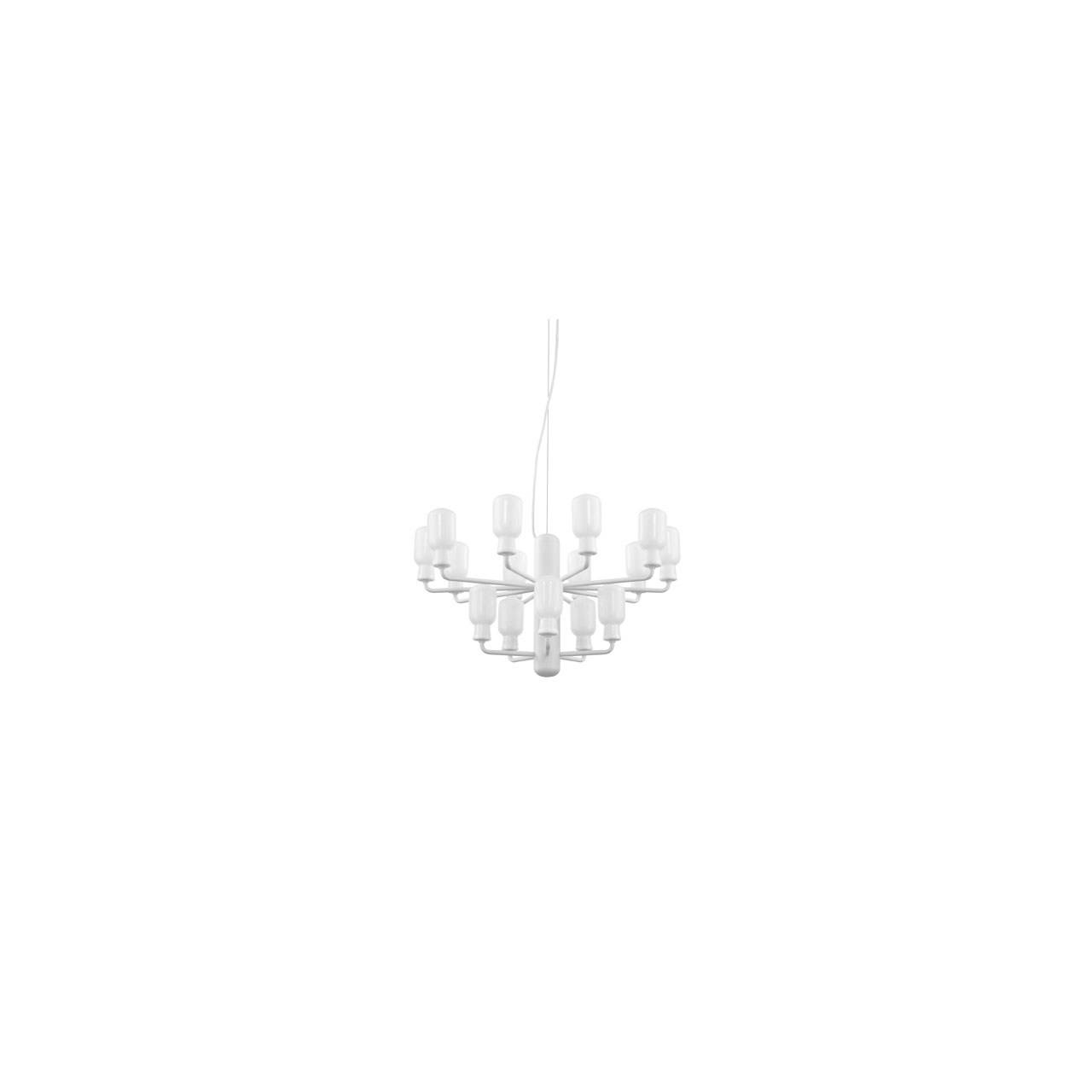 Amp Chandelier Small white von Normann Copenhagen