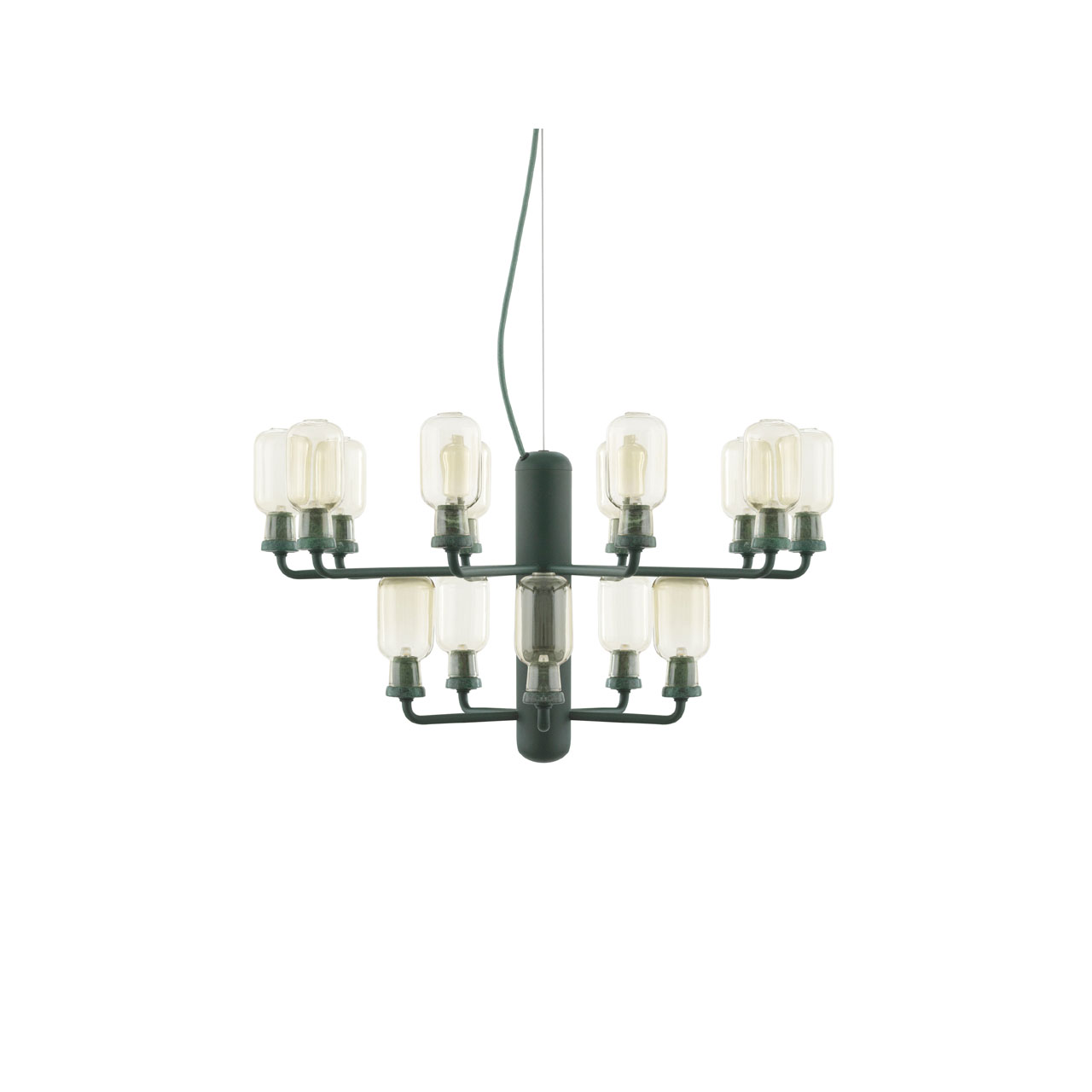 Amp Chandelier Small green von Normann Copenhagen