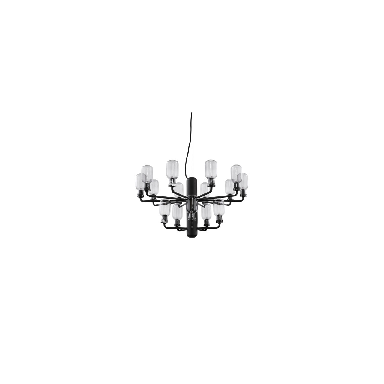 Amp Chandelier Small black von Normann Copenhagen