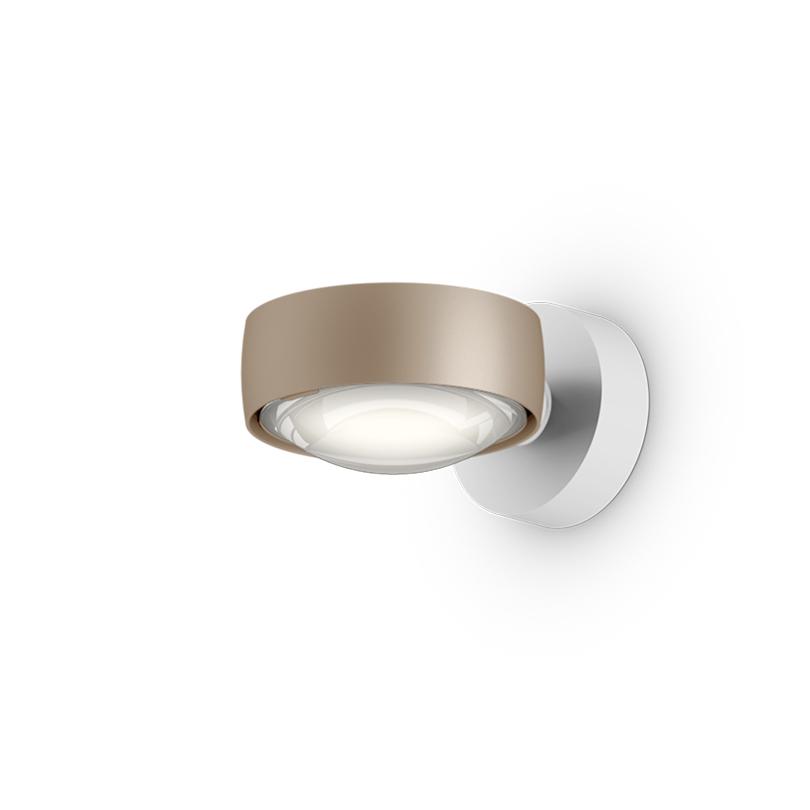 Sento verticale up E gold matt, body weiß matt, mit Fixierring, LED 2700K CRI 97