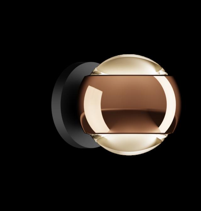 io verticale VOLT D rose gold, base schwarz matt von Occhio