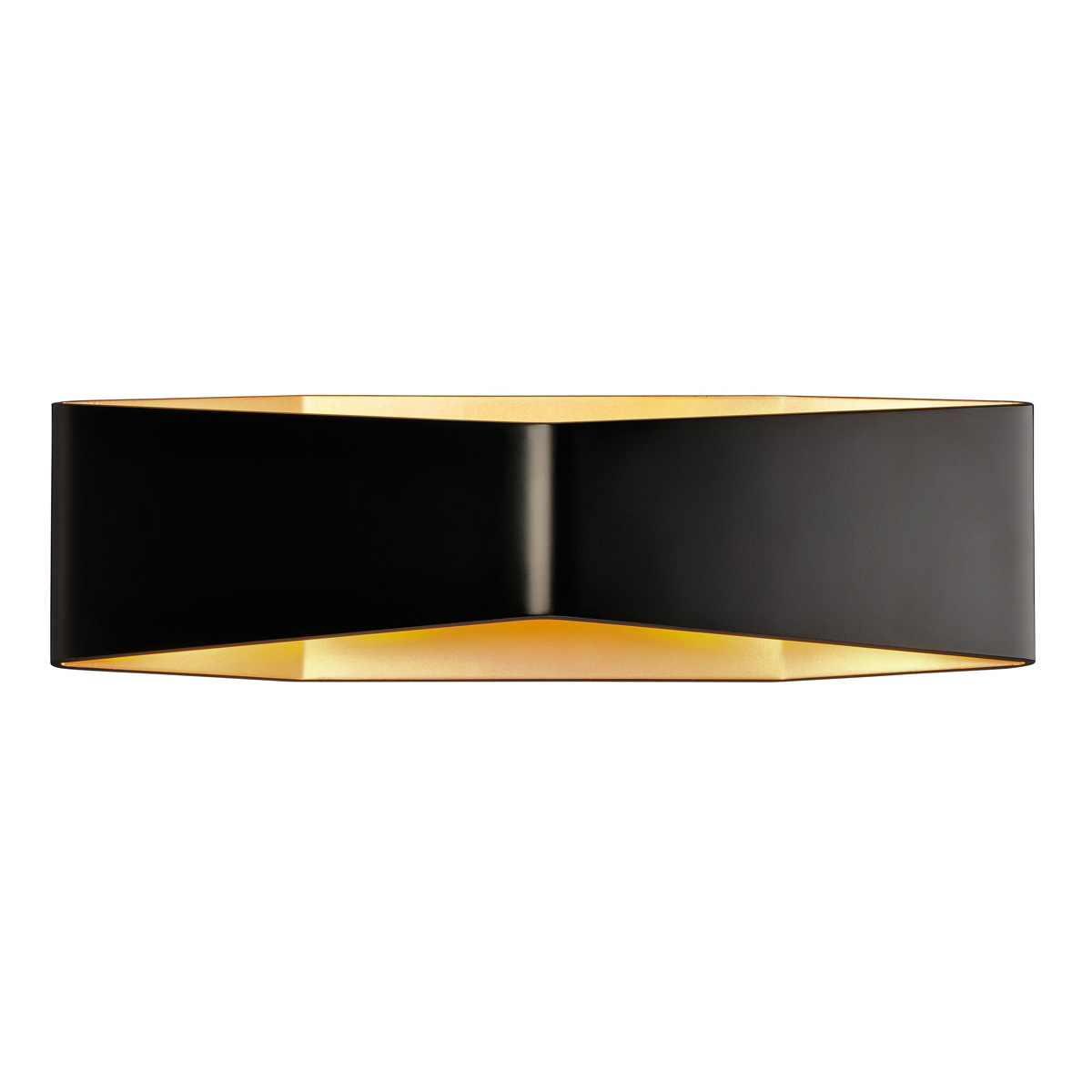 BIG CARISO LED Wandleuchte 2, schwarz/ messing 2x 9W LED, 3000K