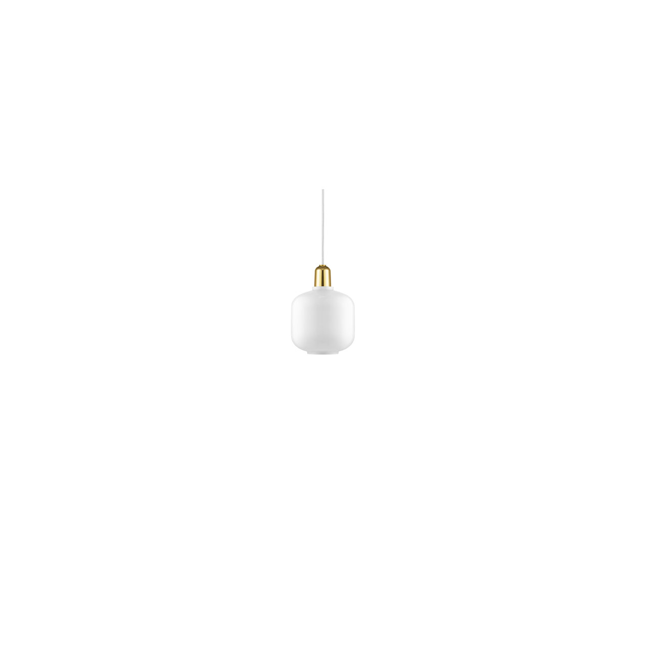 Amp Lamp Small Brass Eu White/Brass von Normann Copenhagen