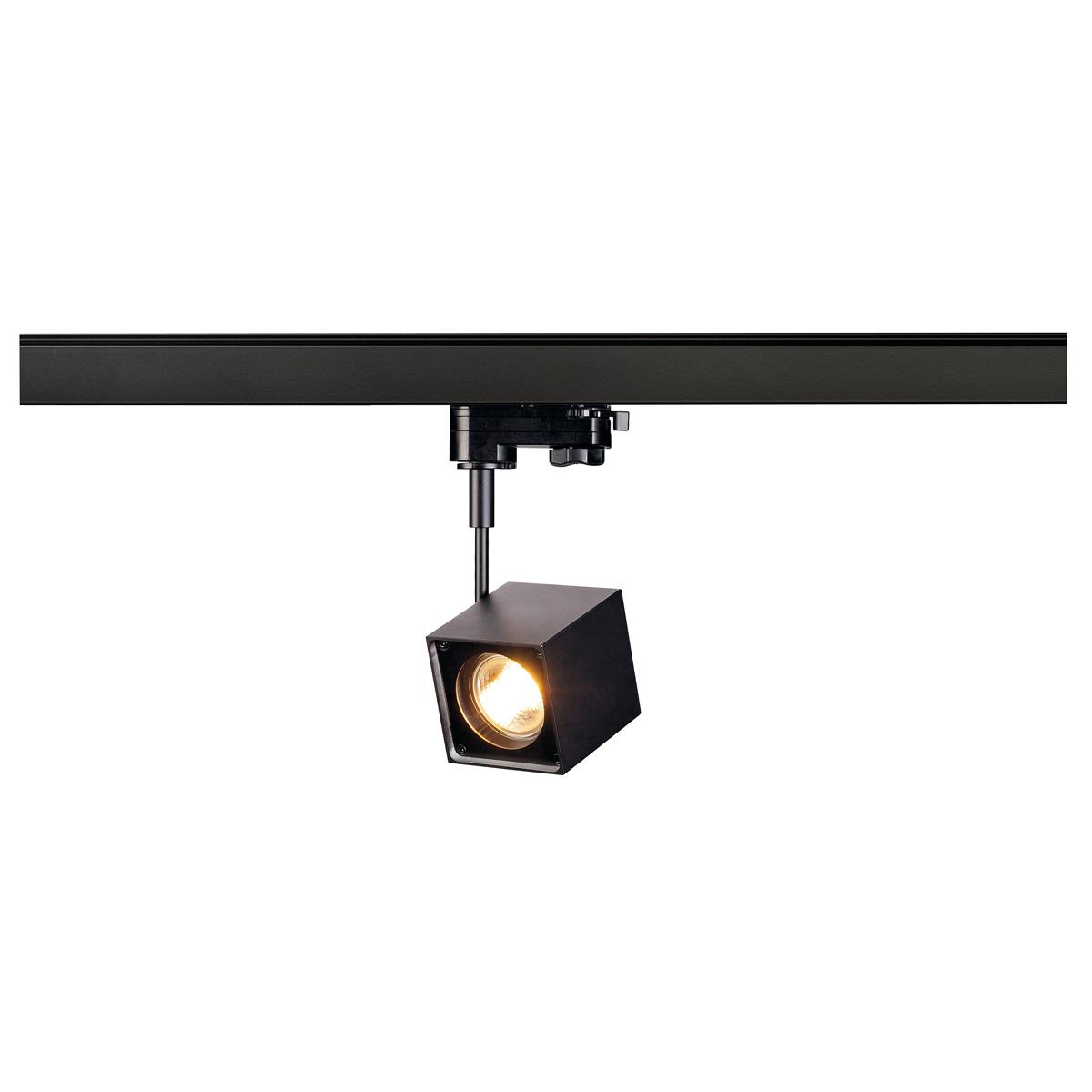ALTRA DICE Spot, eckig, schwarz, GU10, max. 50W, inkl. 3P.-Adapter von SLV