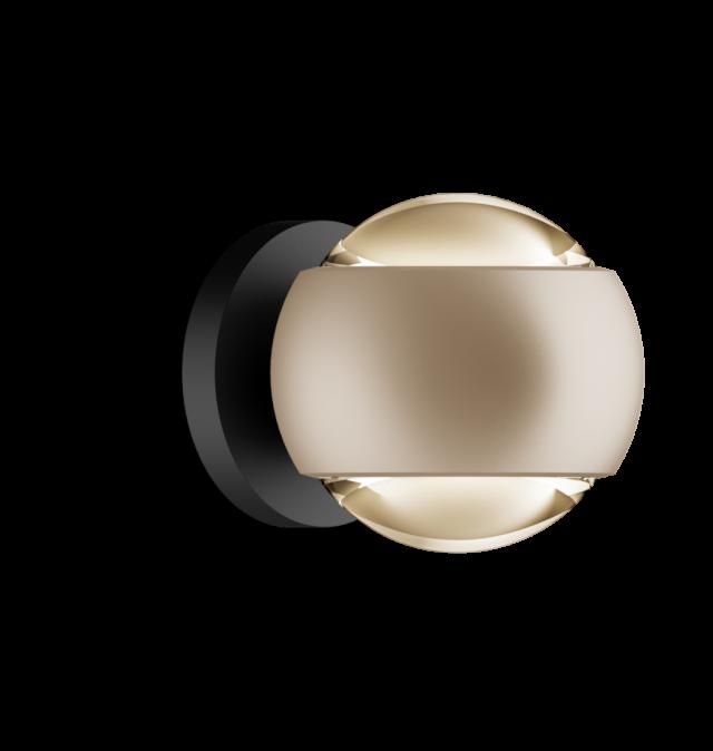 io verticale pro D gold matt, base schwarz matt von Occhio