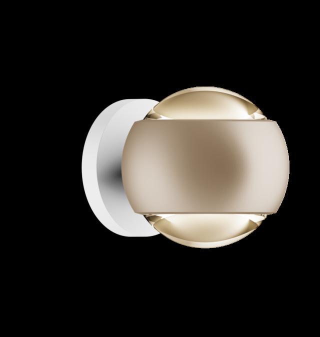 io verticale VOLT D gold matt, base weiß matt von Occhio