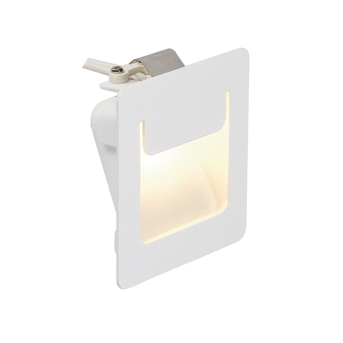 DOWNUNDER PUR Einbauleuchte, eckig, weiss, 3,6W LED, warm- weiss, 80x80mm