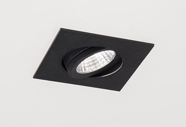 Einbaustrahler Agon Square LED von Molto Luce, schwarz, 2700K, 40°
