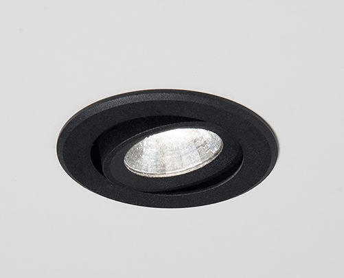 Einbaustrahler Agon Round LED von Molto Luce, schwarz, 2700K, 20°